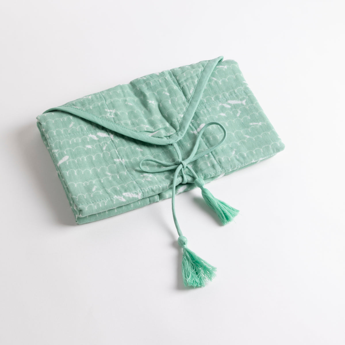 Patterned Cotton Changing Pad- PICNIC SF