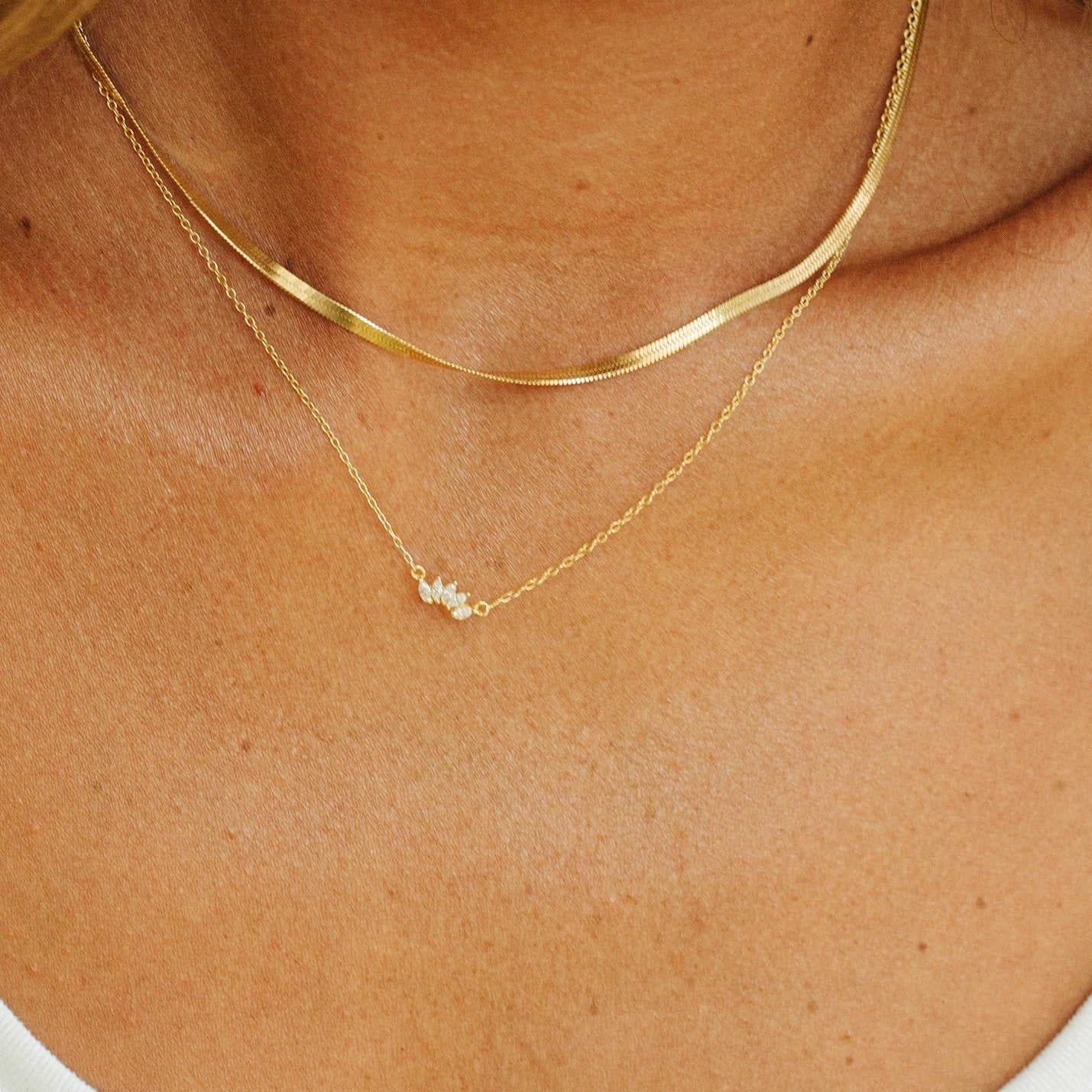 Herringbone Chain Necklace-Picnic-sf