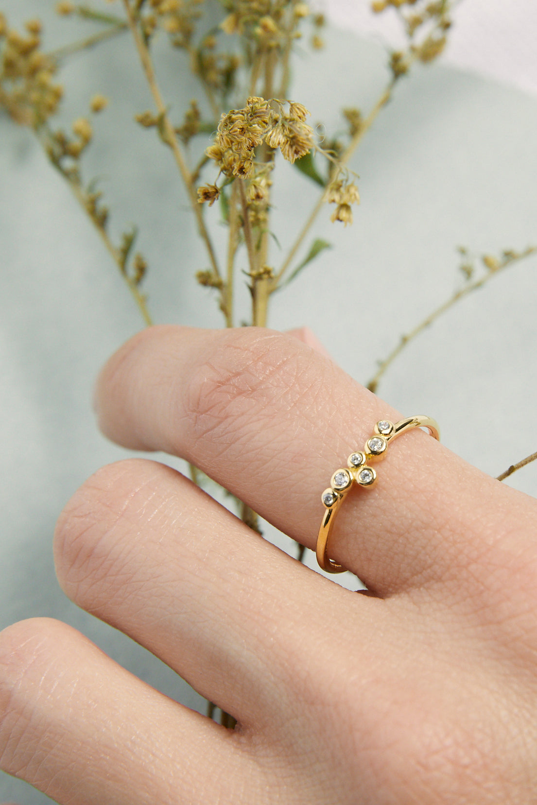 Multi Bubble CZ Ring
