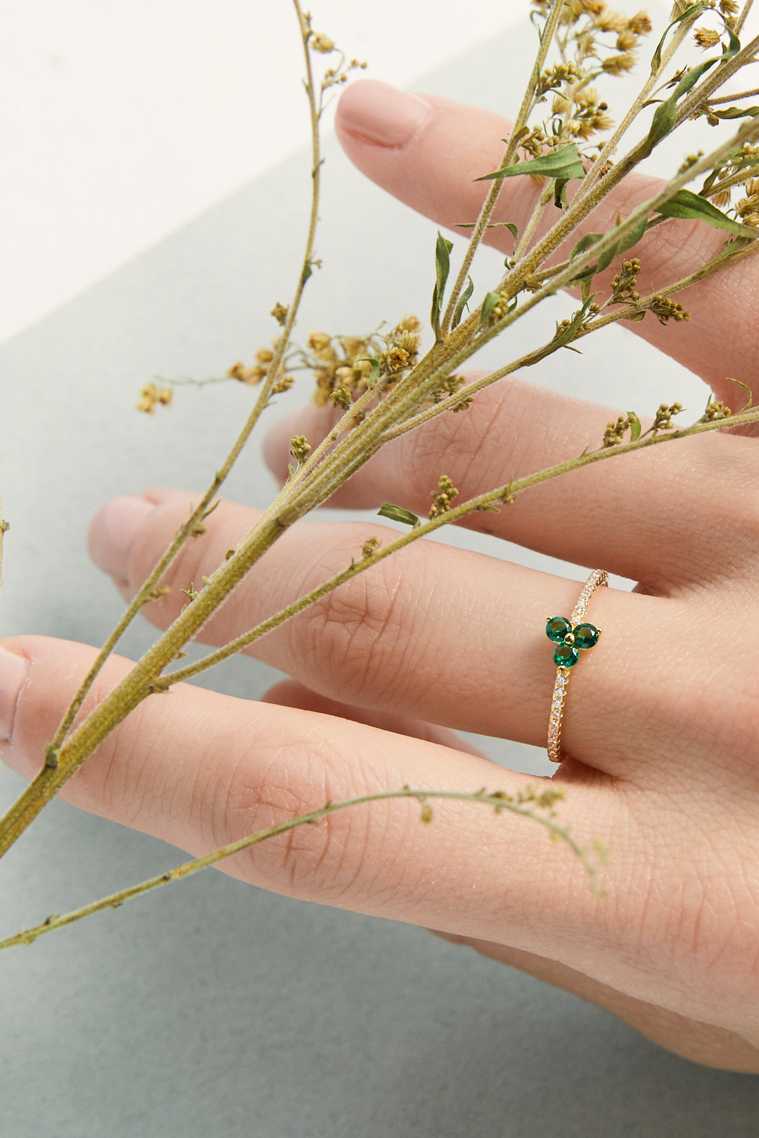 Triple Leaf Clover Ring - picnic-sf