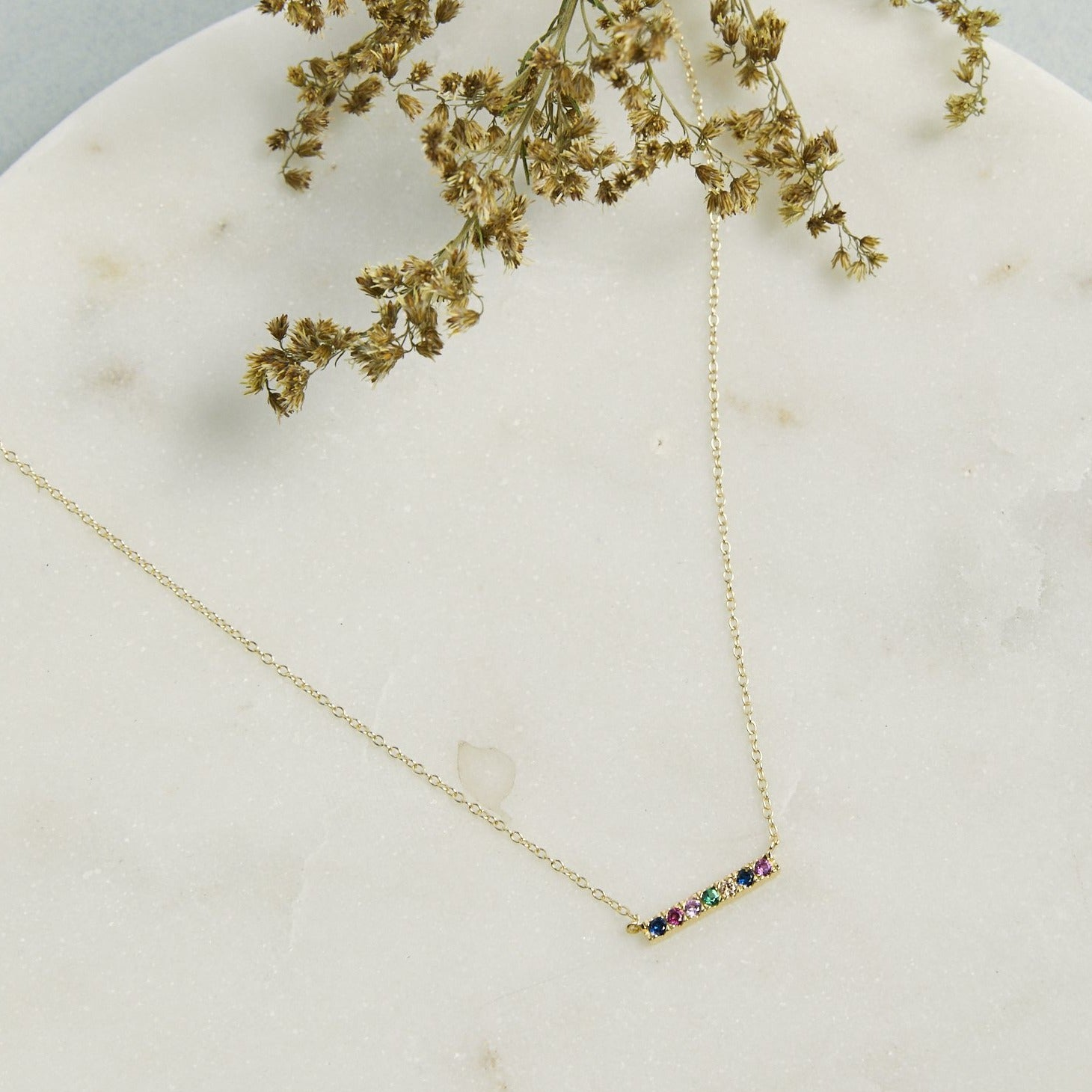Rainbow Bar Necklace - picnic-sf
