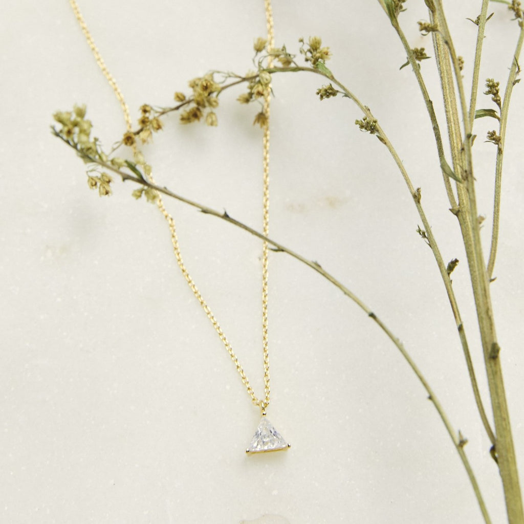 Triangle Solitaire Necklace - picnic-sf