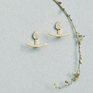 Teardrop Curve Jacket Earrings - picnic-sf