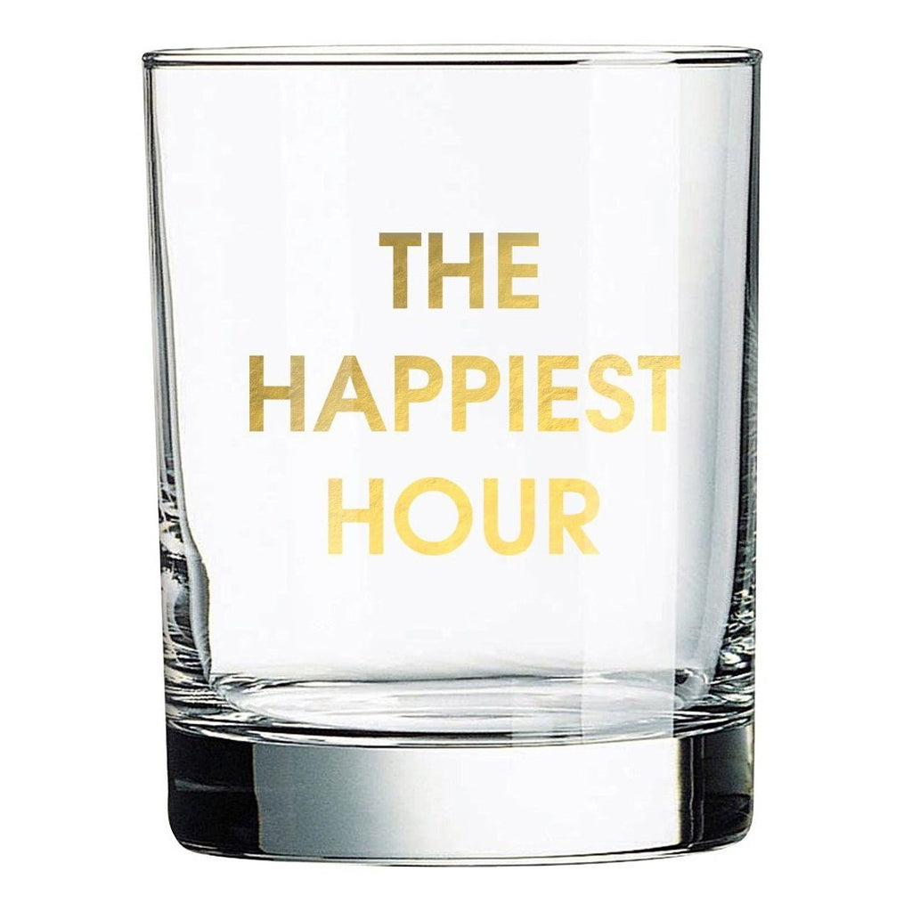 The Happiest Hour Rocks Glass-Picnic-sf