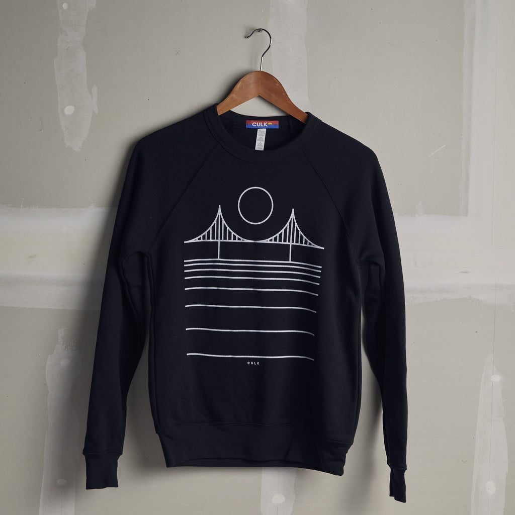 Minimal Golden Gate Bridge Unisex Sweatshirt - picnic-sf