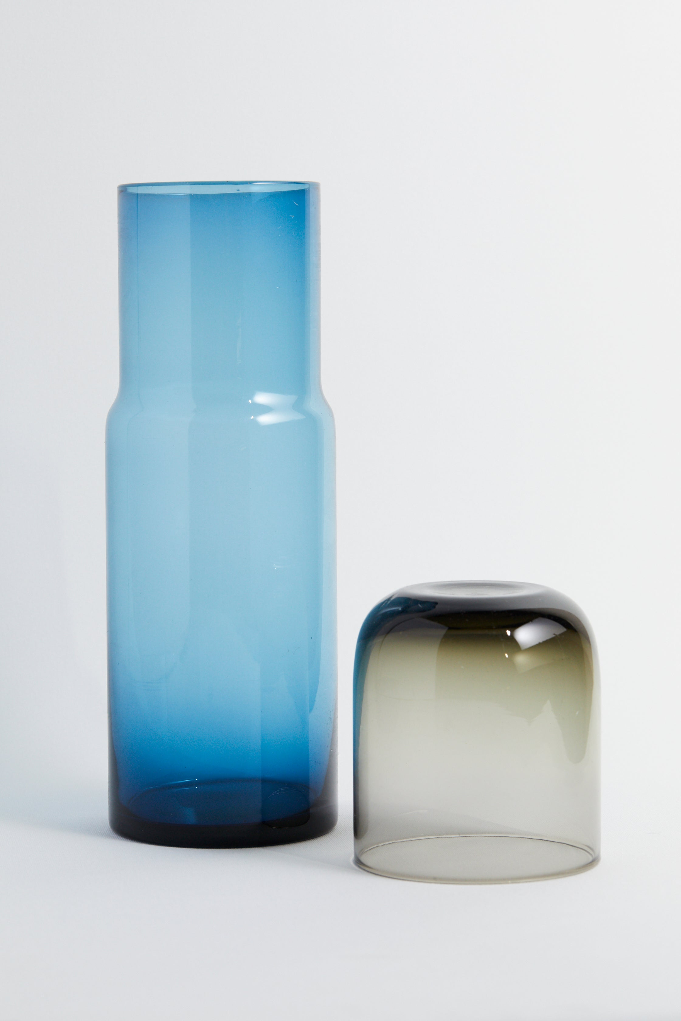 Transparent Blue Glass Decanter Set - picnic-sf