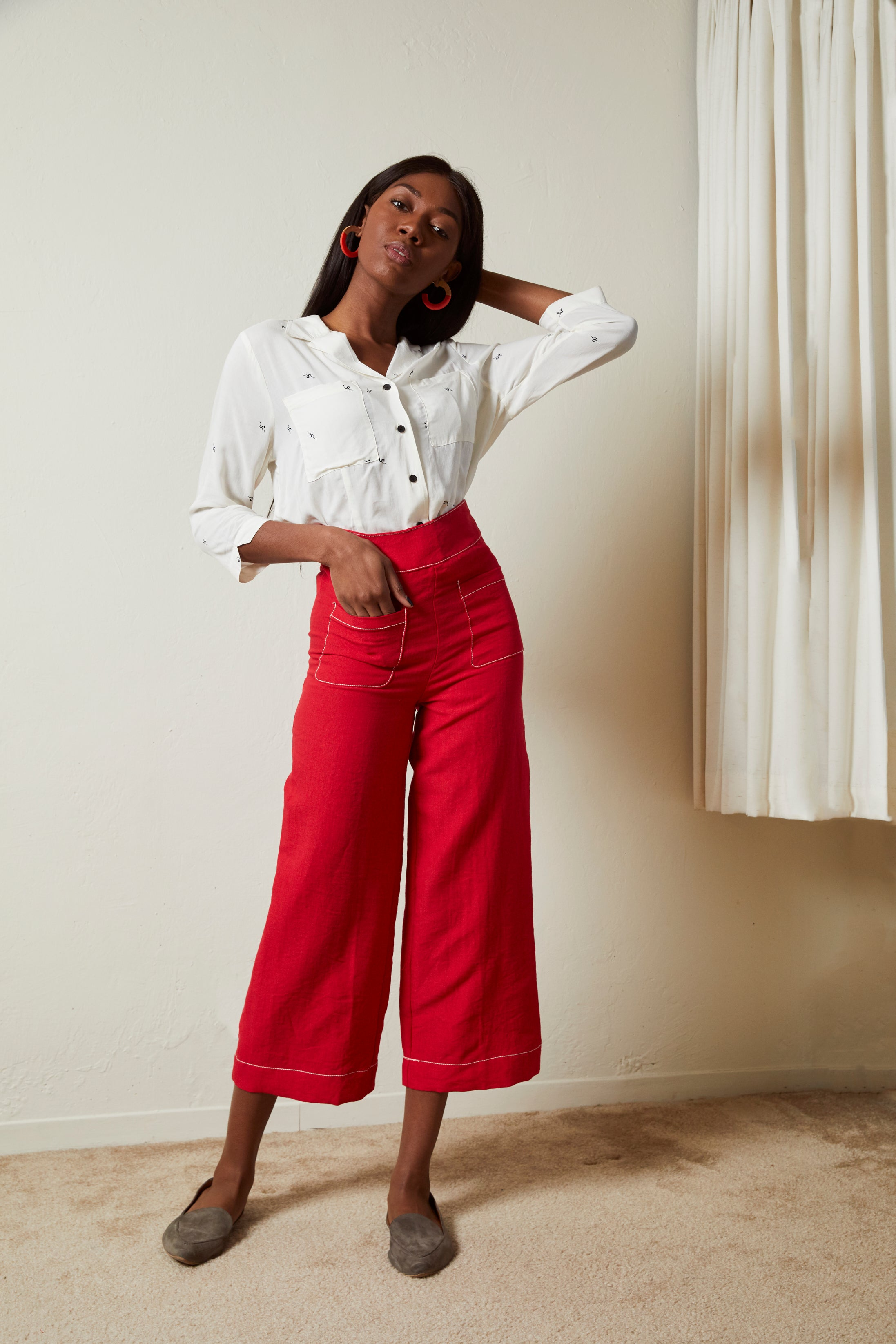 Pocket Wide Leg Pants - picnic-sf