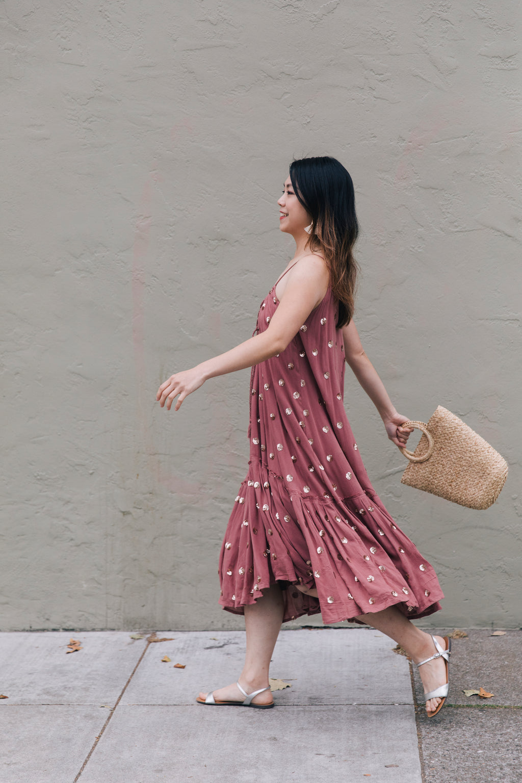 Rust Sequin Maxi Dress - picnic-sf