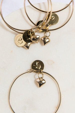 Taurus Heart Bangle - picnic-sf