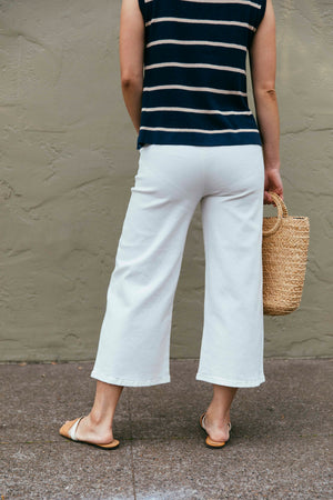 White High-Rise Wide Leg Jeans - picnic-sf