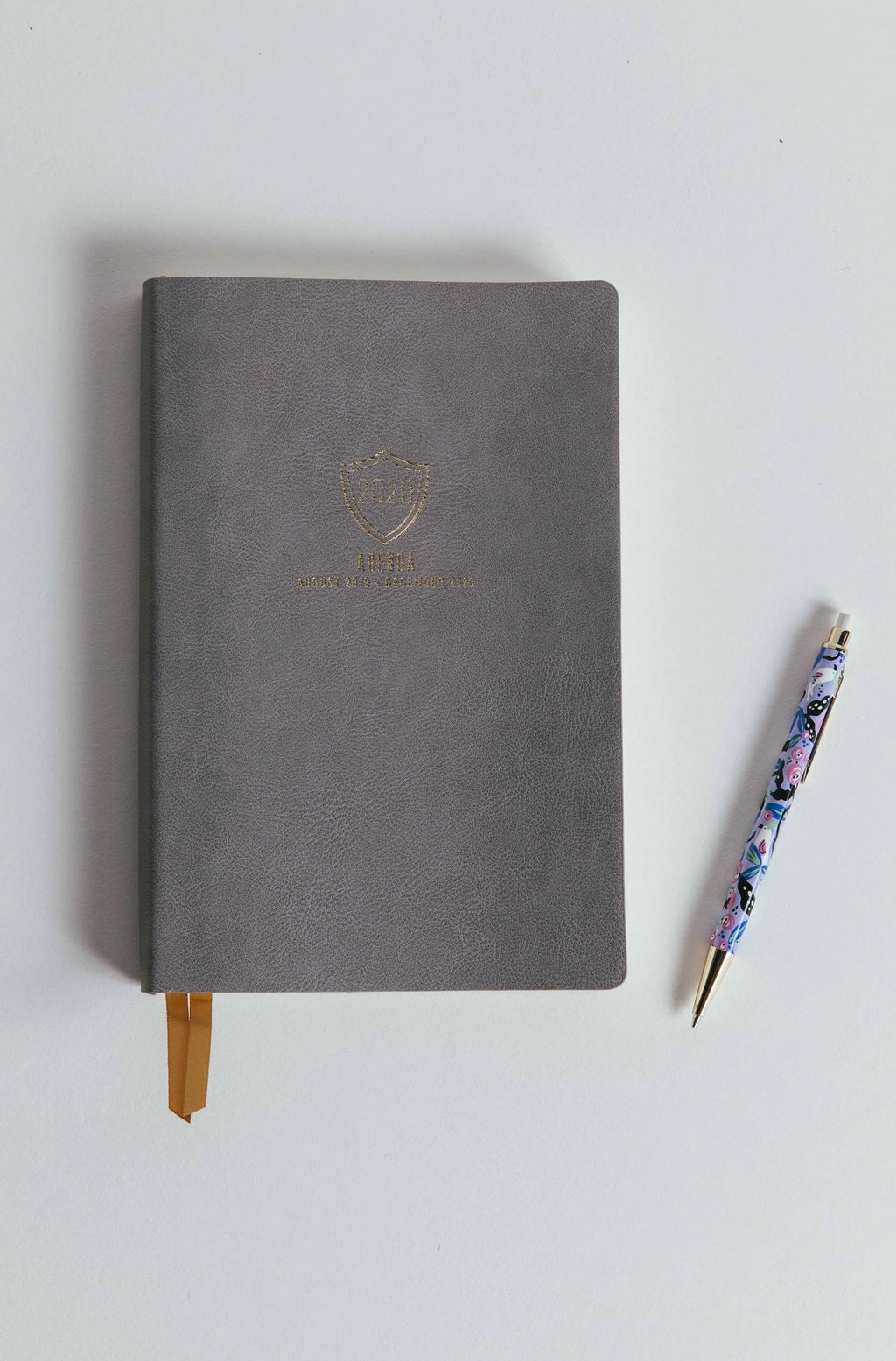 Grey Shield Leather Agenda - picnic-sf