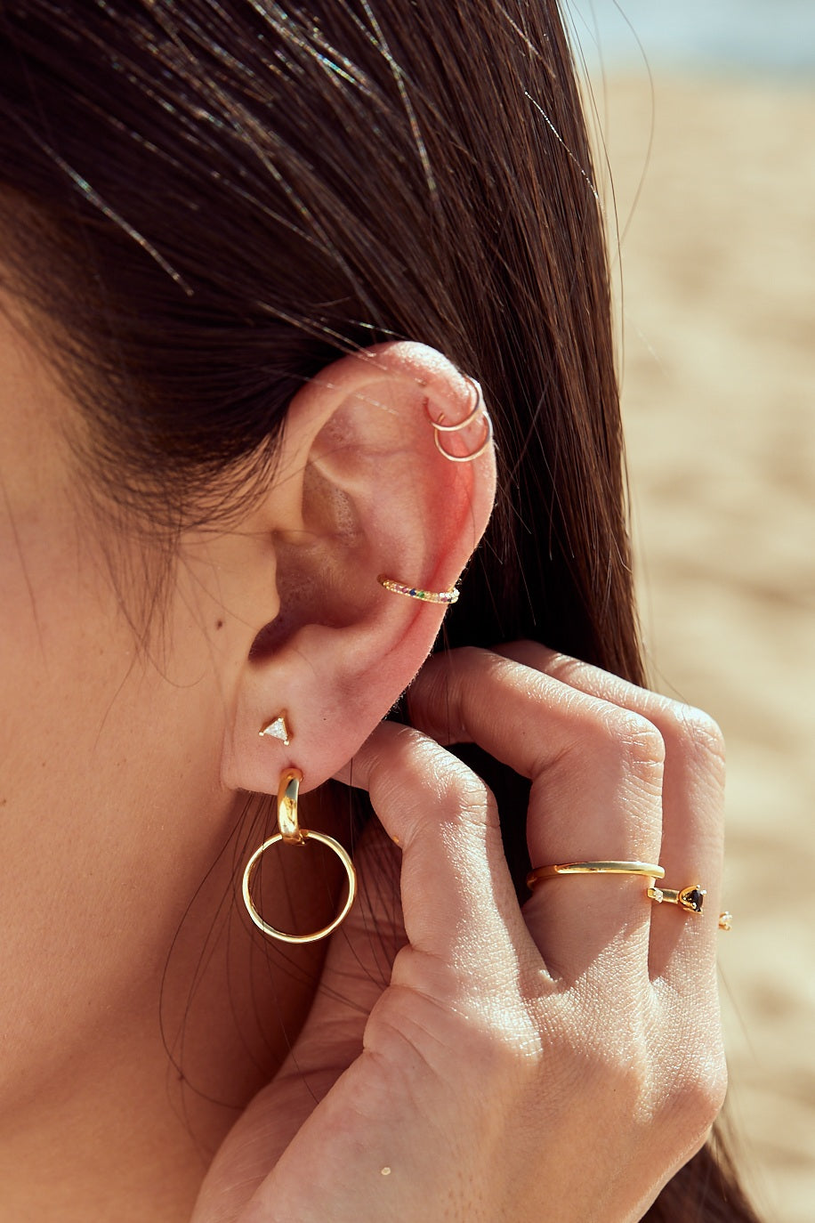 Petite Rainbow Ear Middle Cuff - picnic-sf