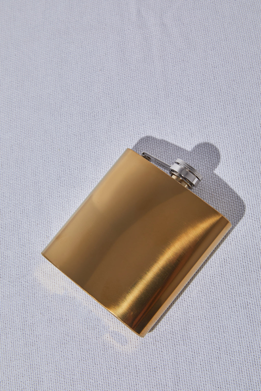 Polished Brass Flask - P I C N I C