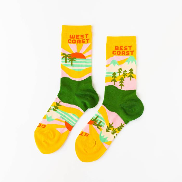Best Coast Crew Socks -Picnic-sf