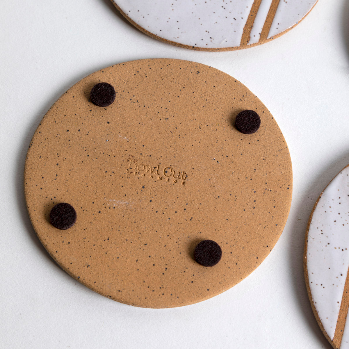 Speckled Striped Coasters- Picnic SF