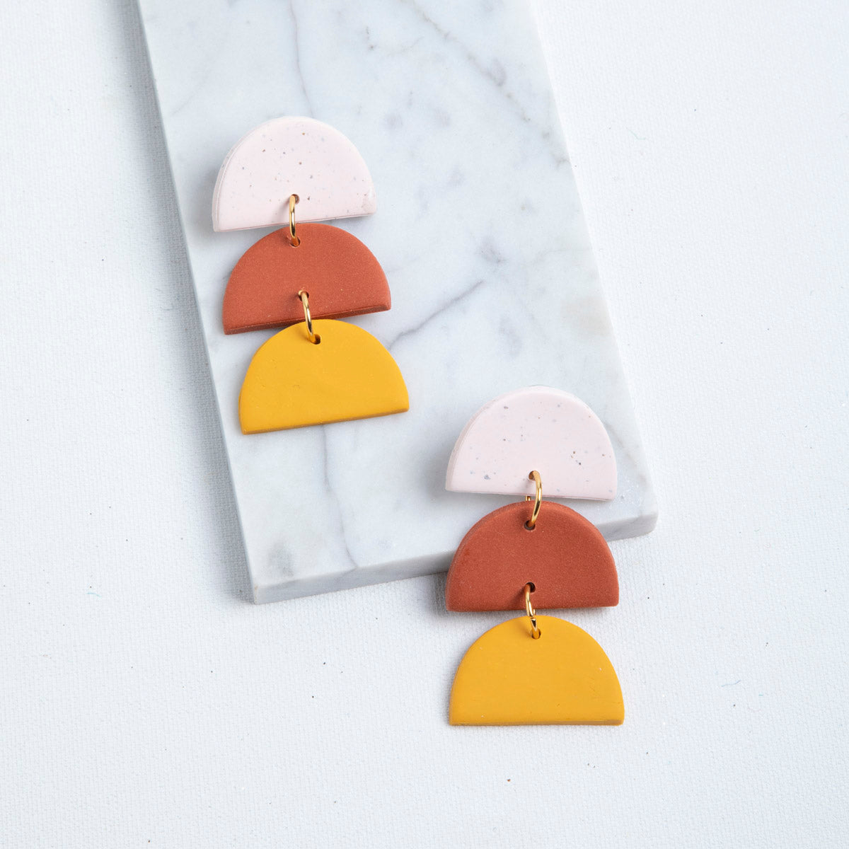 Sunset Tiered Polymer Clay Earrings available at Picnic SF