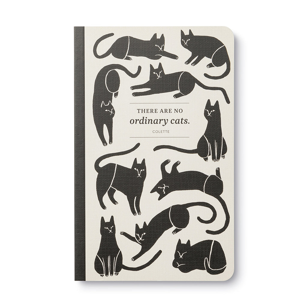 """There are no ordinary cats.""- Colette Softcover Notebook"