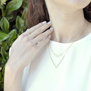 Triple Tiny Circle Diamond Cut Necklace - picnic-sf