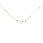 Triple Tiny Circle Diamond Cut Necklace - P I C N I C