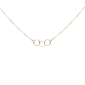 Triple Tiny Circle Diamond Cut Necklace