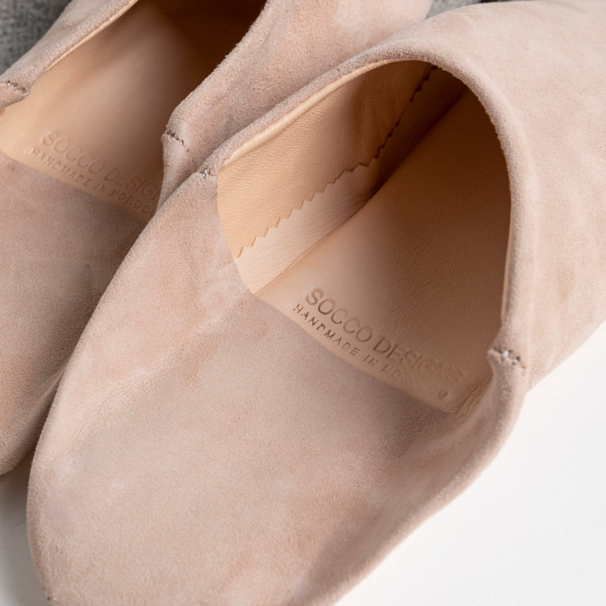 Moroccan Babouche Slippers in Blush available at PICNIC SF
