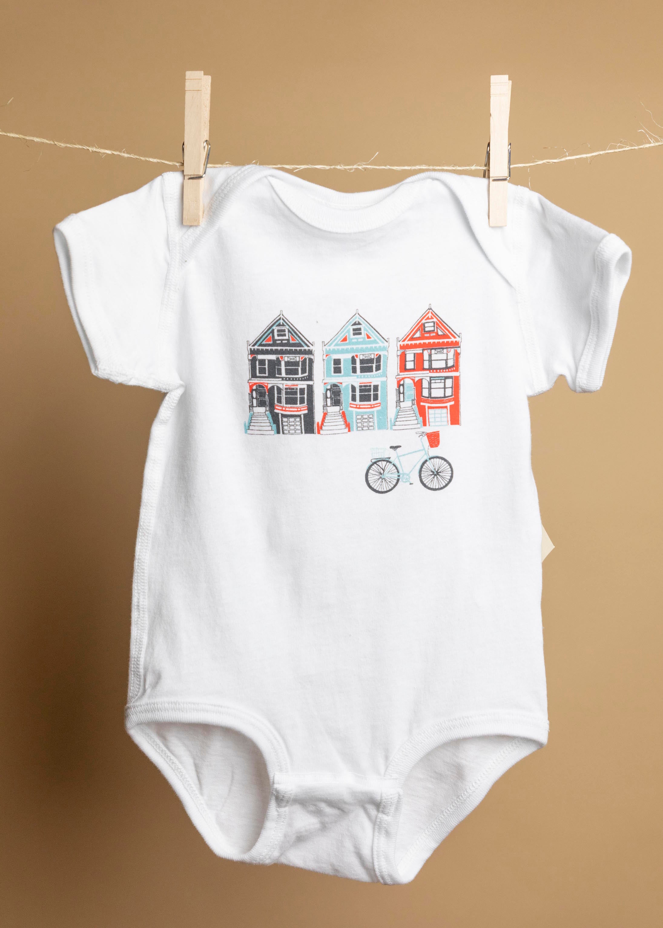 San Francisco Painted Ladies Onesie-Picnic-sf