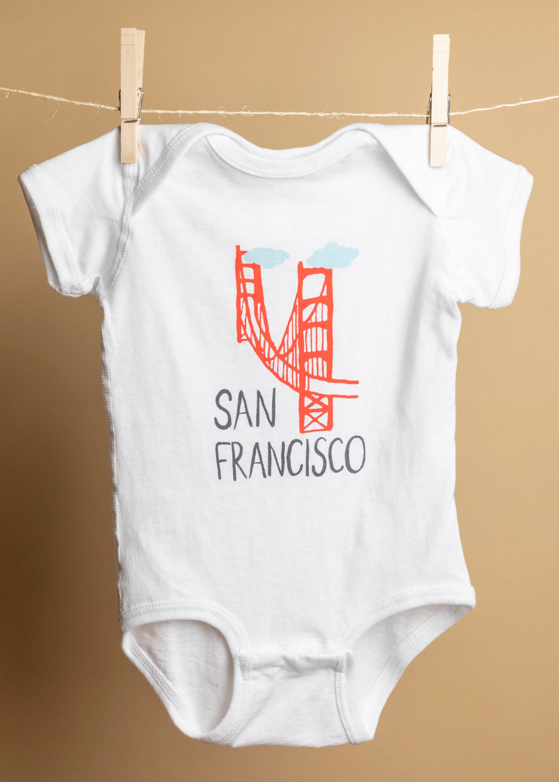 San Francisco Golden Gate Bridge Onesie-Picnic-sf