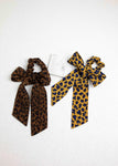 Leopard Print Scarf Pony Tail Holder- Picnic-sf
