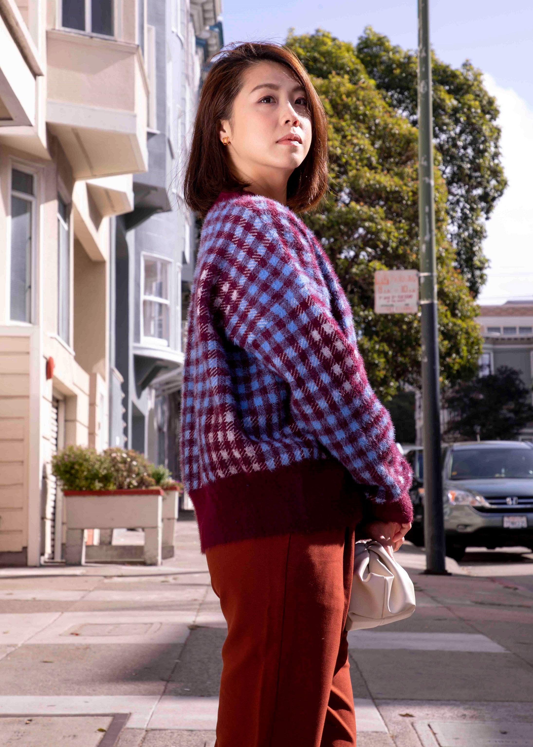 Lorri Check Knit Cardigan-Picnic-sf