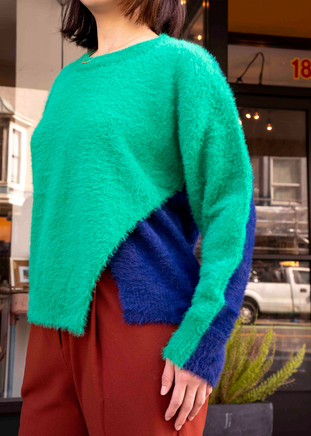Bicolor Pullover Sweater-Picnic-sf