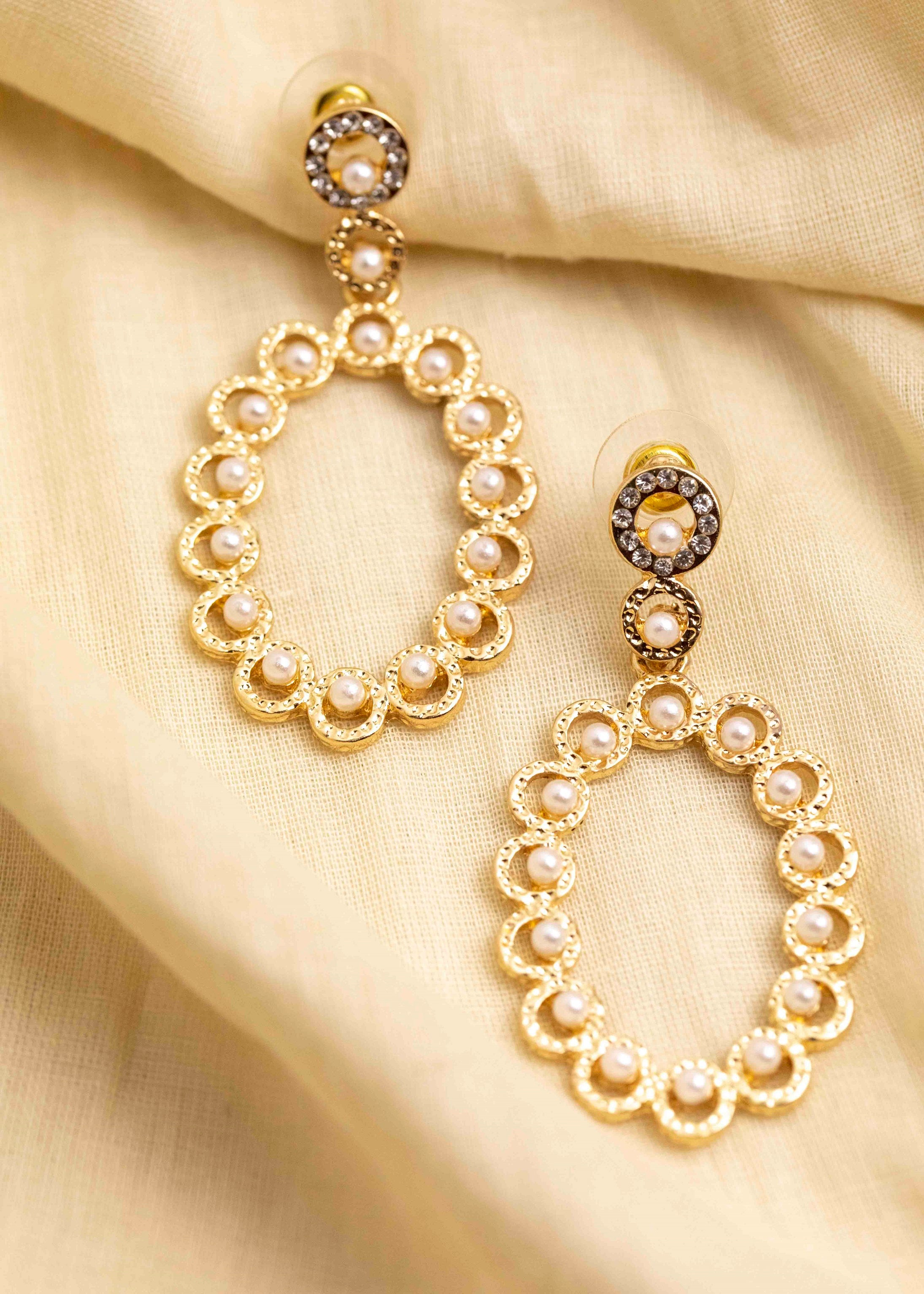 Oval Pearl Drop Earring - picnic-sf