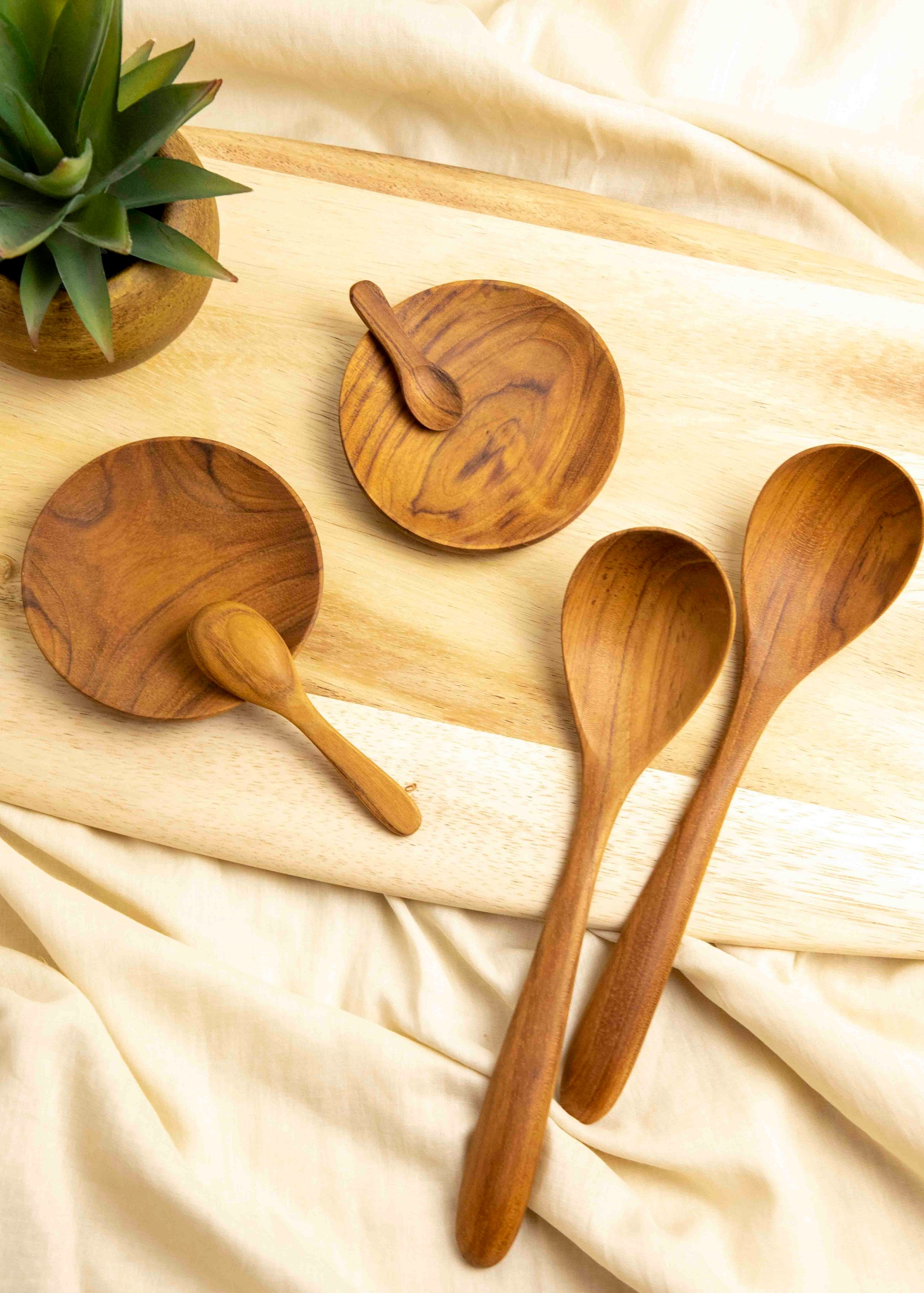 Teak Curved Spoons - picnic-sf