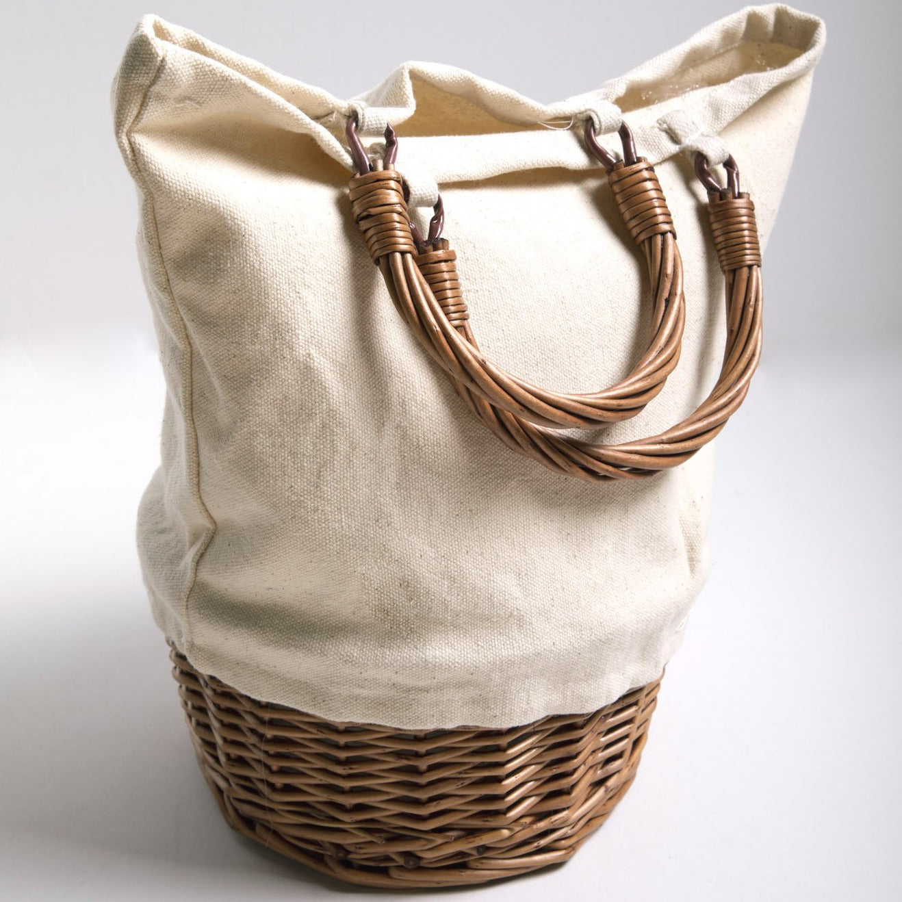 Canvas Basket Bottom Tote