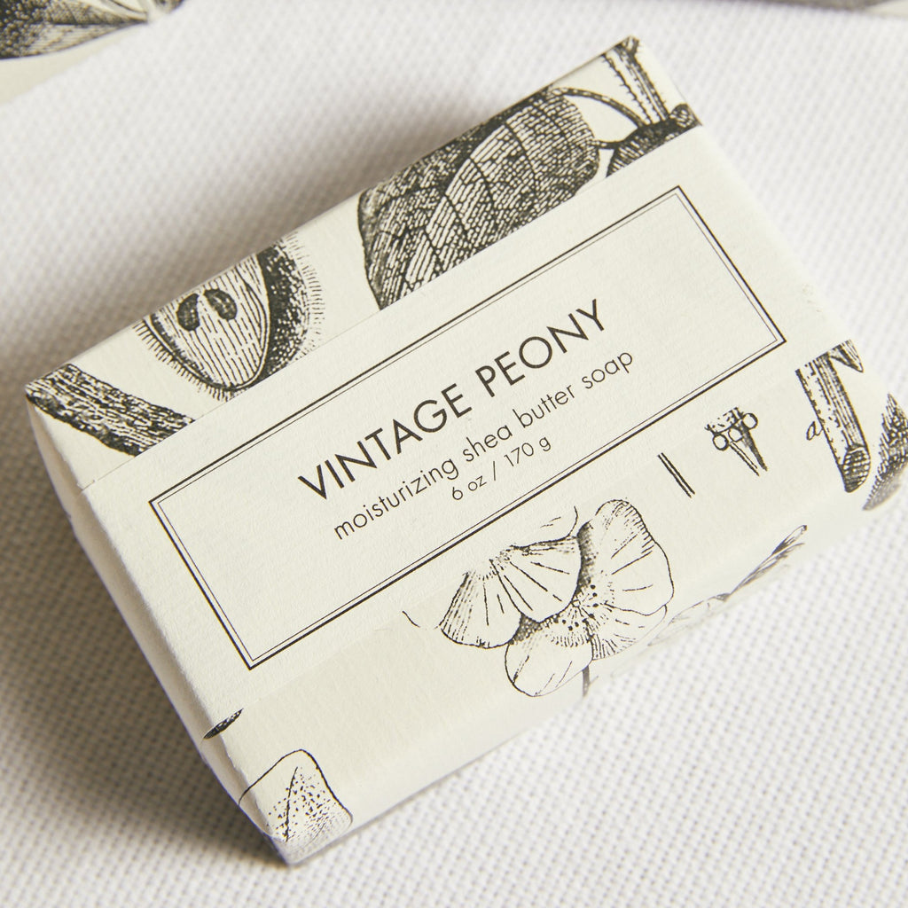 Vintage Peony Shea Butter Bar Soap - picnic-sf