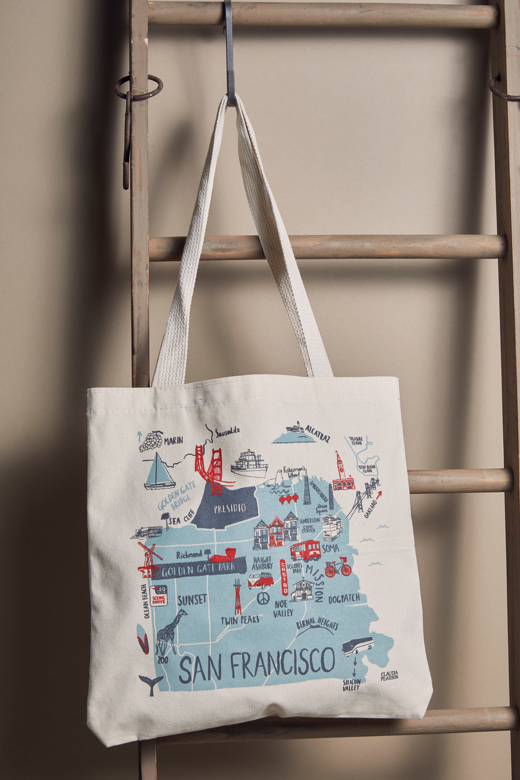 San Francisco Everyday Map Tote - picnic-sf