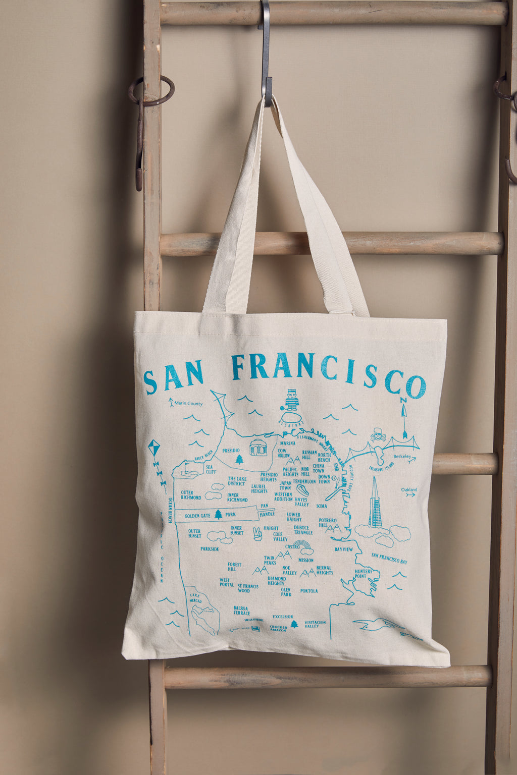San Francisco Map Grocery Tote