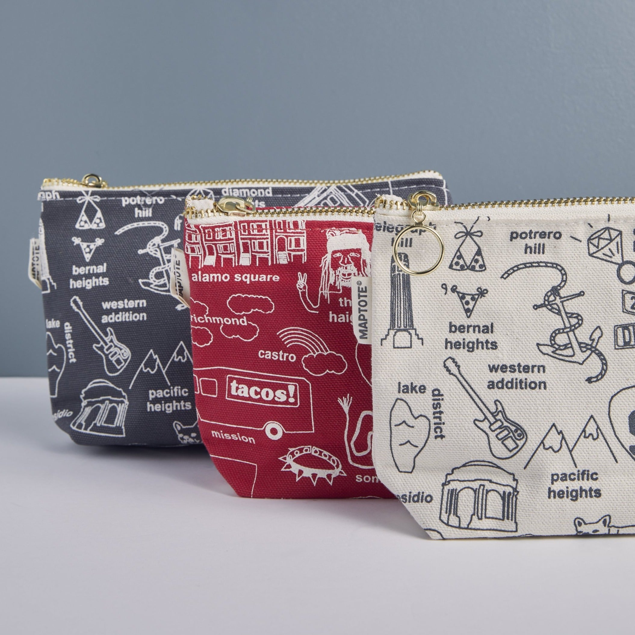San Francisco Street Zipped Pouch - picnic-sf