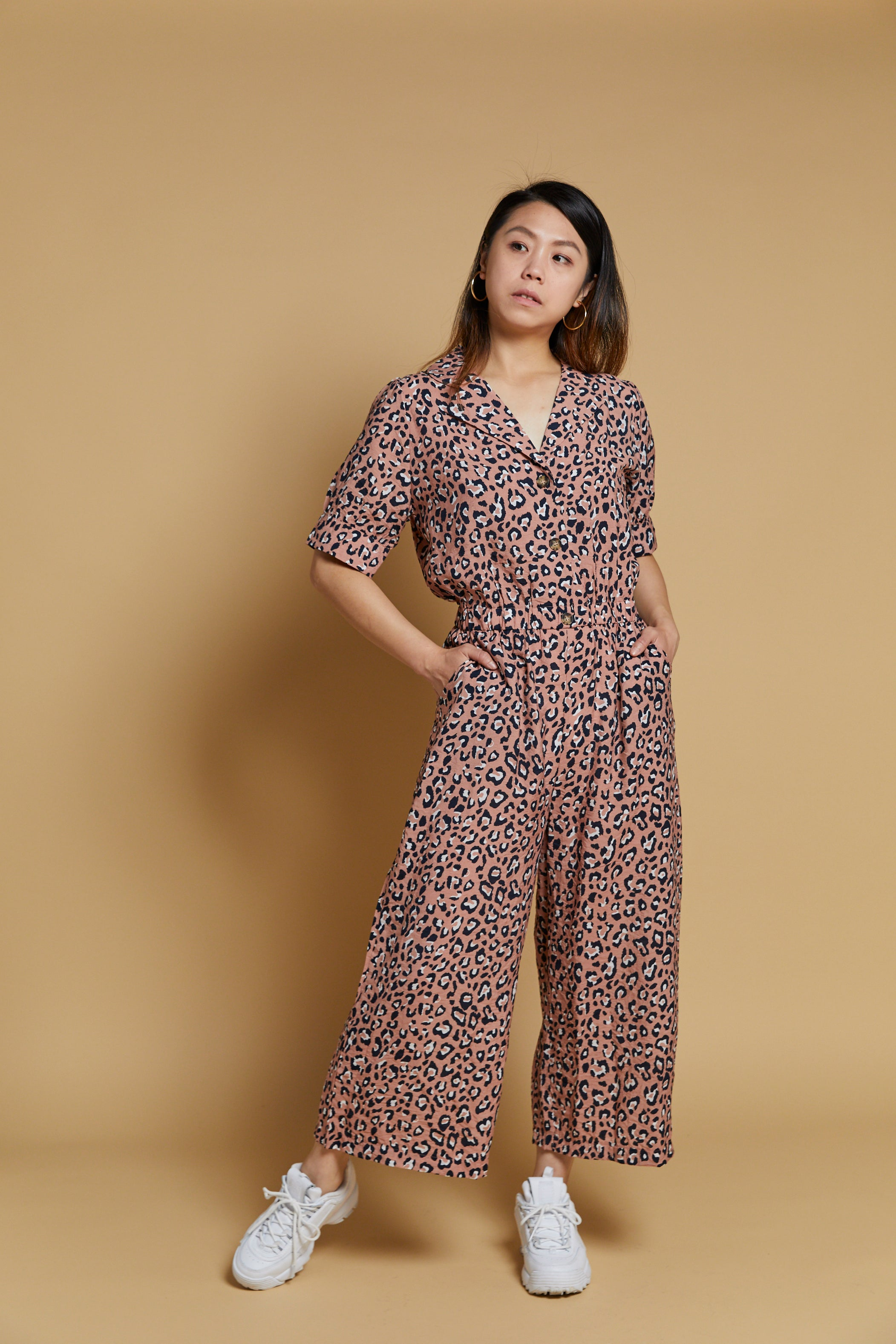 Pink Leopard Printed Jumpsuit - picnic-sf