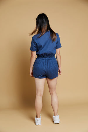 Ensley Button-Front Romper - picnic-sf