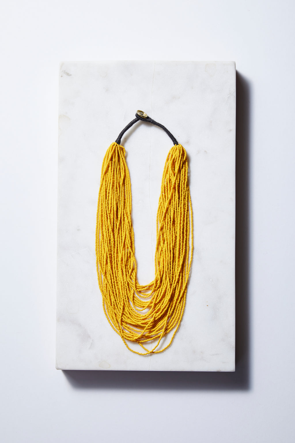 Mustard Multi-layer Seed Beads Necklace