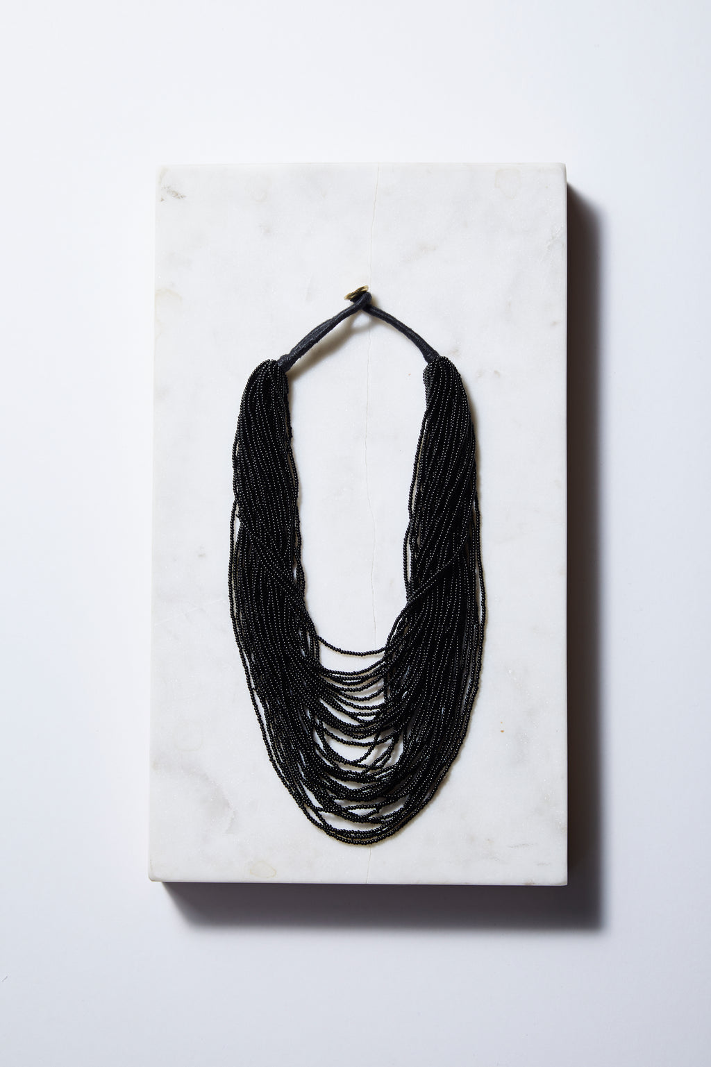 Black Multi-layer Seed Beads Necklace - P I C N I C
