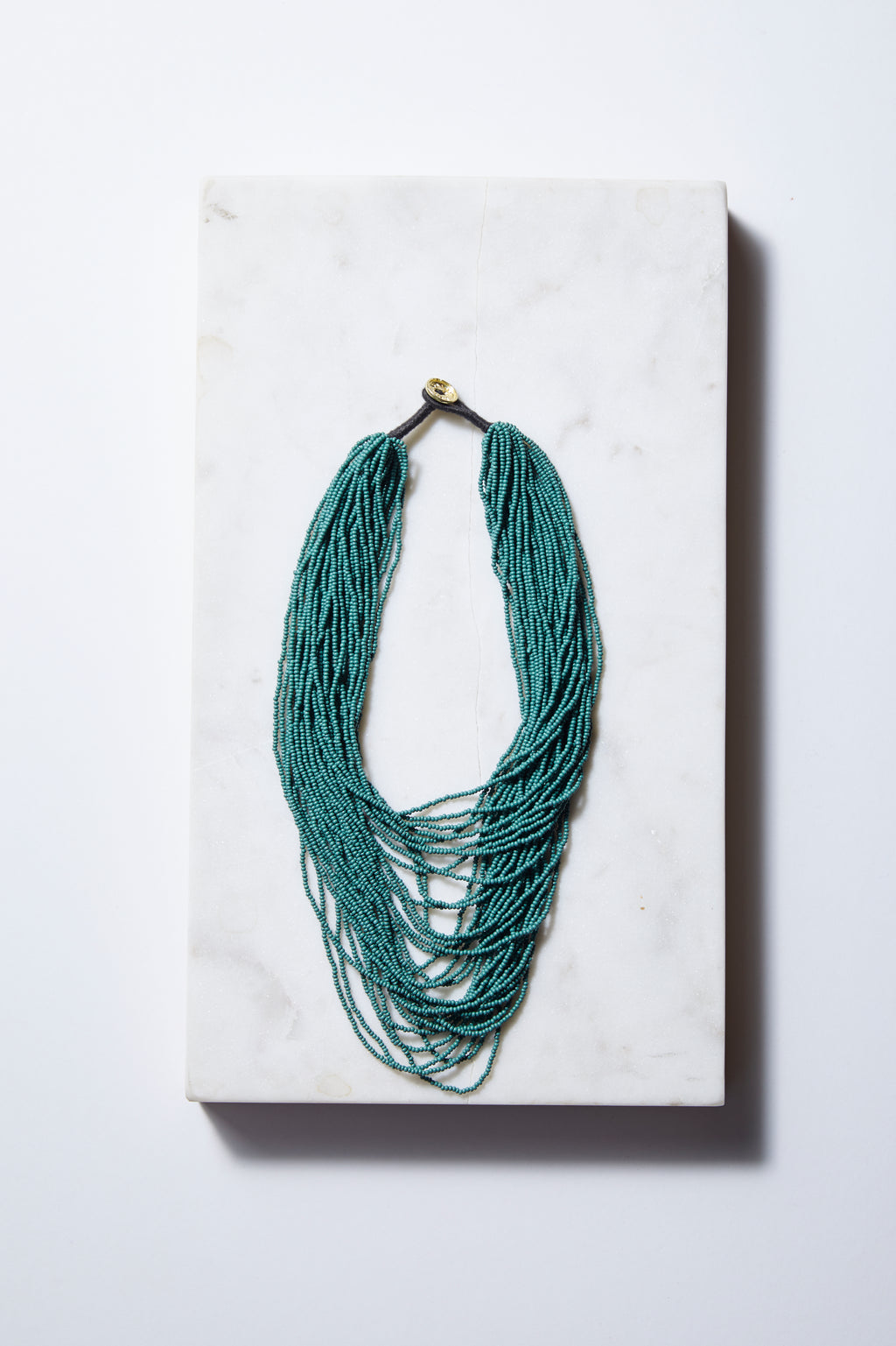 Teal Multi-layer Seed Beads Necklace - P I C N I C