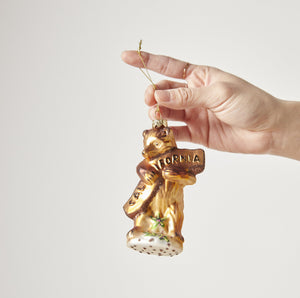 California Bear Hug Glass Ornament - P I C N I C