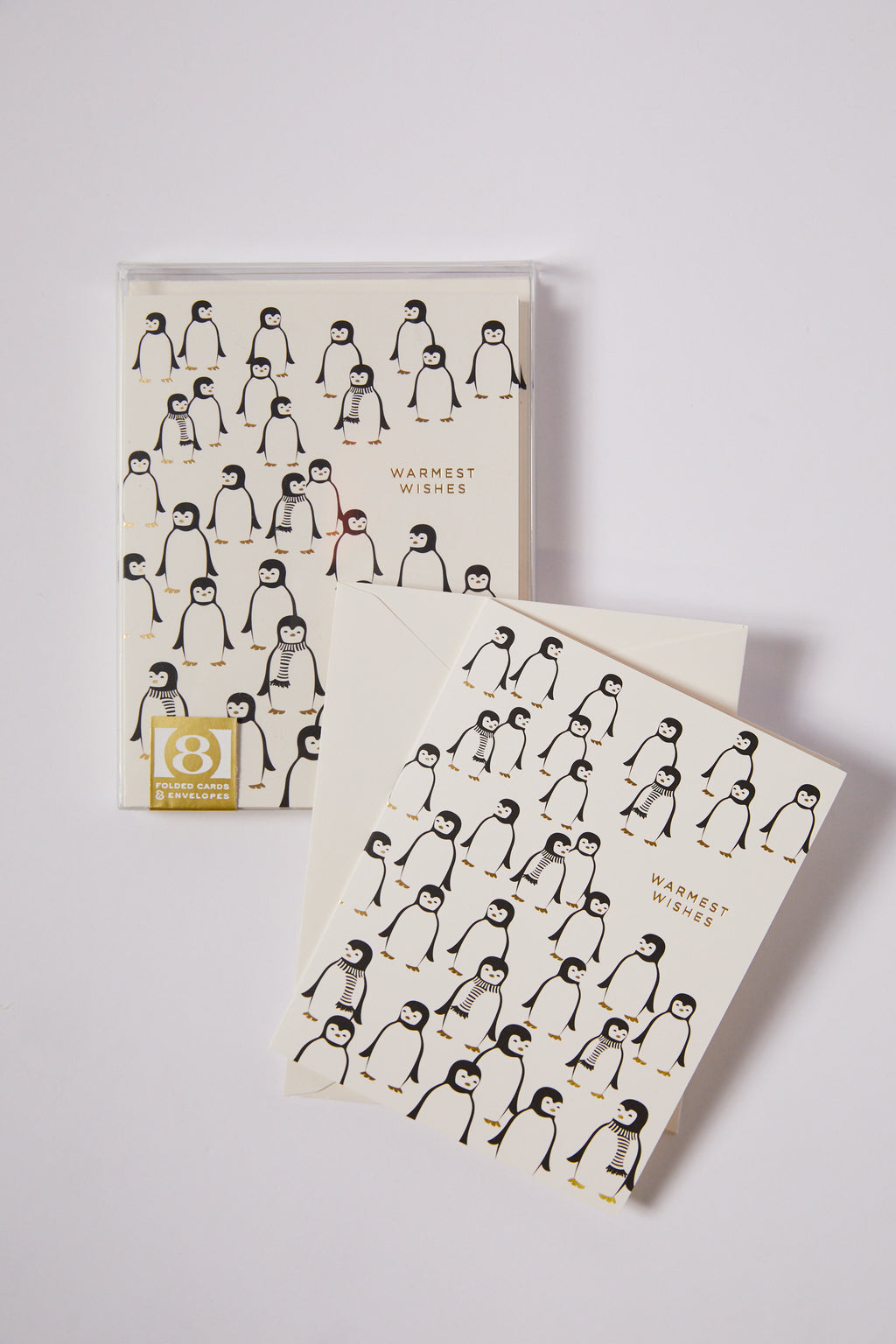 Penguins Wishes Season's Greeting Card Set