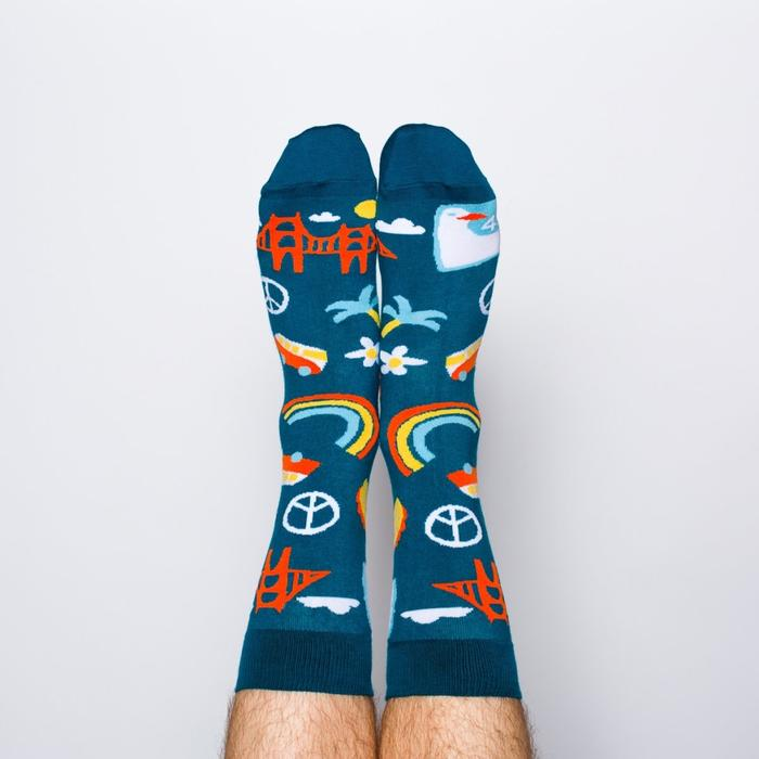San Francisco Men Crew Socks- Picnic-sf