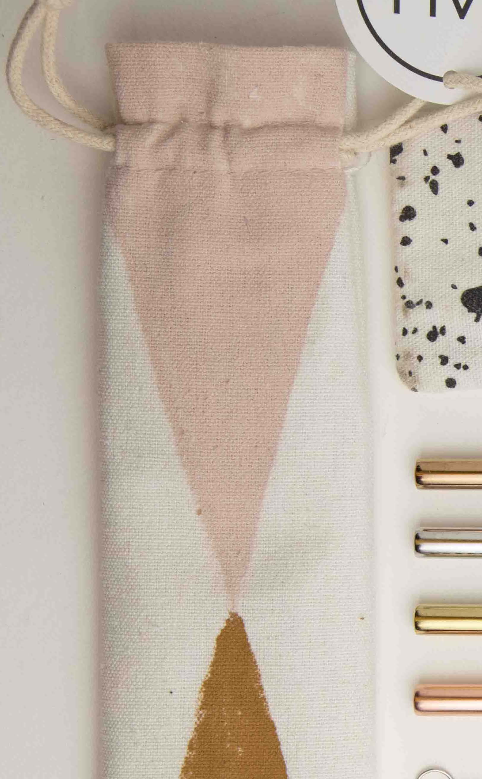 Patterned- Reusable Straw Set with Cotton Pouch