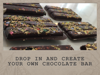 Drop in and create your own chocolate bar