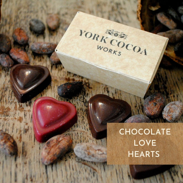 Vegan Chocolate Love Hearts in pocket gift box