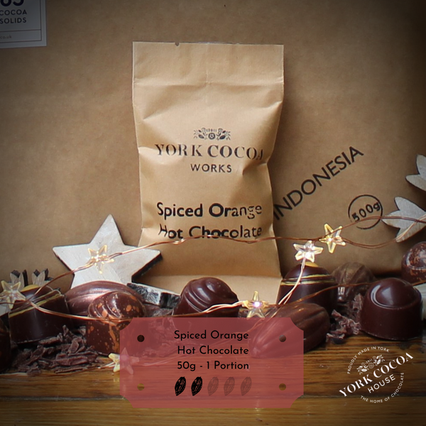 Cocoa Sack with Festive Spiced Chocolate Orange Hot Chocolate Portion