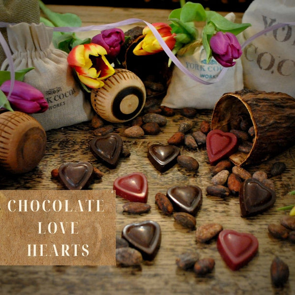 Vegan Chocolate Love Hearts 100g